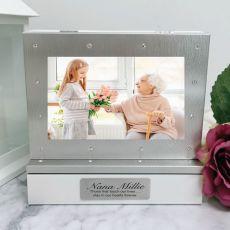 Memorial Photo Keepsake Diamente Trinket Box