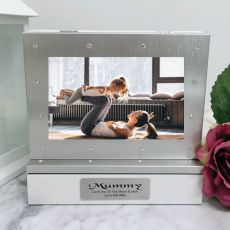 Mum Photo Keepsake Diamente Trinket Box