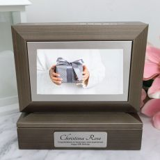 50th Photo Keepsake Trinket Box - Charcoal Grey