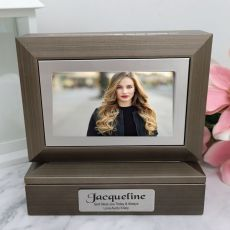 Personalised Photo Keepsake Trinket Box - Charcoal Grey