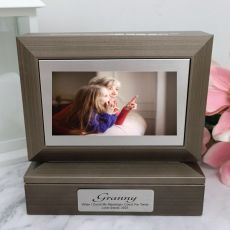 Grandma Photo Keepsake Trinket Box - Charcoal Grey