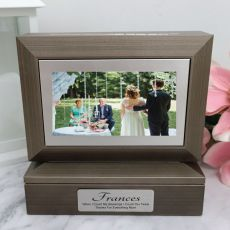 Mother of the bride Photo Keepsake Trinket Box - Charcoal Grey