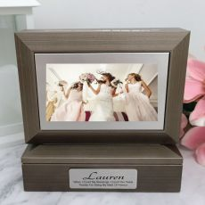 Maid of Honour Photo Keepsake Trinket Box - Charcoal Grey
