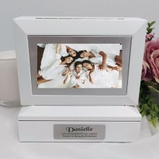 Bridesmaid Photo Keepsake Trinket Box - White