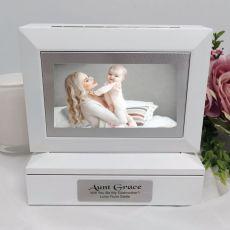 Godmother Photo Keepsake Trinket Box - White