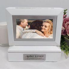 Mother of the groom Photo Keepsake Trinket Box - White