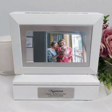 Nana Photo Keepsake Trinket Box - White