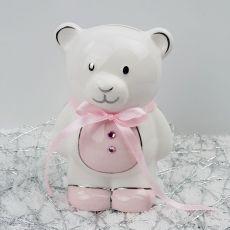 Baby Girl Teddy Money Box