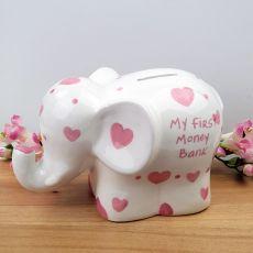 My First Money Bank Elephant Pink