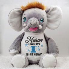 Personalised Birthday Cubbie Olliephant Elephant Plush