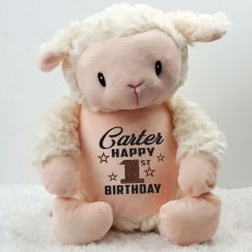 Personalised Birthday Loverby Lamb Cubbie Plush