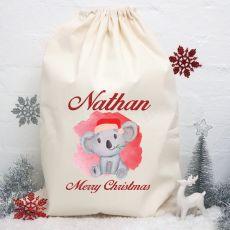 Personalised Christmas Santa Sack 80cm - Koala