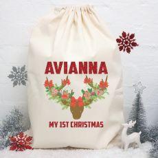Personalised Christmas Santa Sack - Boho Reindeer