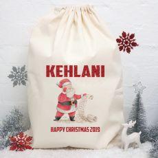 Personalised Christmas Santa Sack -Santas List
