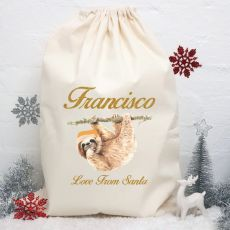 Personalised Christmas Santa Sack - Sloth