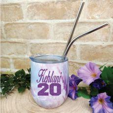 Personalised Birthday Eco Tumbler Purple Marble
