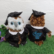 Personalised Graduation Owl with Glittered Cape