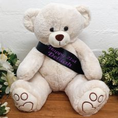 Personalised Birthday Bear with 21st Sash