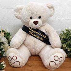 Personalised Birthday Bear with 30th Sash
