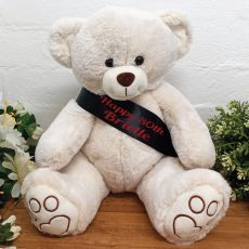 Personalised Birthday Bear with 80th Sash