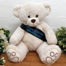 Personalised Birthday Bear with 90th Sash