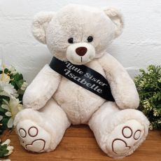 Little Sister Personalised Bear with Sash