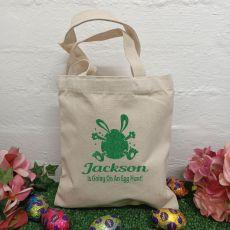 Personalised Easter Hunt Bag Basket - Bunny Egg