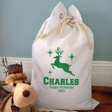 Personalised Christmas Santa Sack 70 x 50 - Reindeer