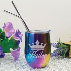Princess Rainbow Tumbler Stemless Wine Glass