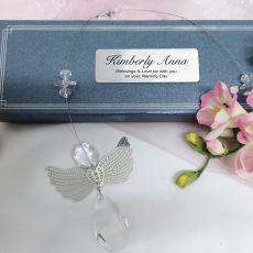 Personalised Naming Day Angel Suncatcher