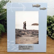 Personalised Wedding Fishing Frame 6x4