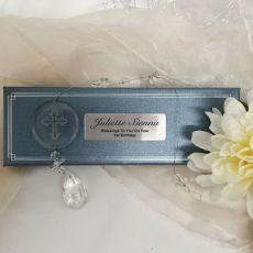 Personalised 1st Birthday Glass Cross Suncatcher
