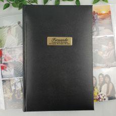 Personalised 80th Album 300 Photo Black