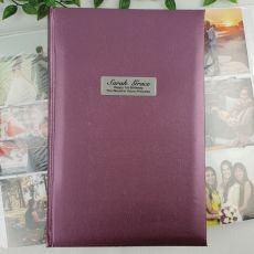 Personalised 1st Album 300 Photo Rose
