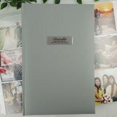 Personalised 80th Album 300 Photo Silver