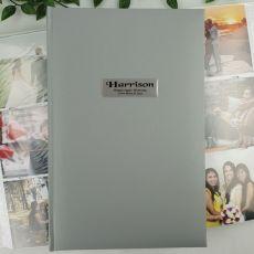 Personalised Birthday Album 300 Photo Silver
