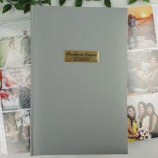 Personalised 50th Album 300 Photo Silver