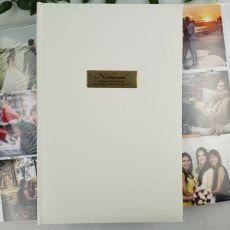 Personalised 80th Album 300 Photo White