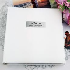 Personalised 18th Birthday Photo Album 200 - White
