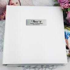 Personalised 1st Birthday Photo Album 200 - White