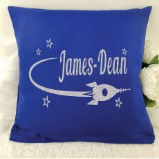 Glittered Space Cushion Cover - Blue