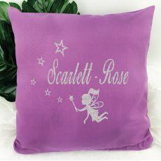 Glittered Fairy Cushion Cover - Grape