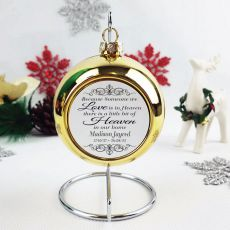 Memorial Christmas Bauble - Gold