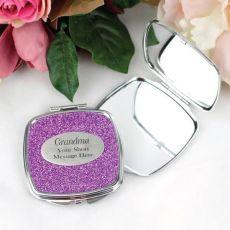 Gran Personalised Glitter Compact Mirror