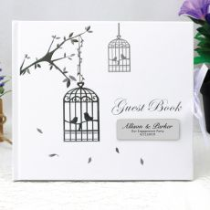 Personalised Engagement Guest Book - Bird Cage