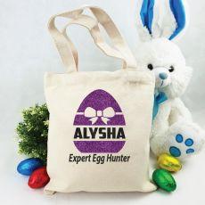 Personalised Easter Hunt Bag - Bow Egg