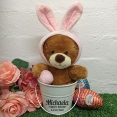 Easter Bunny in White Personalised Hunt Bucket