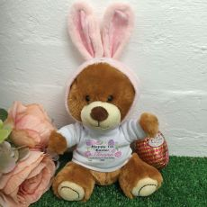 First Easter Bunny in Personalised T-Shirt - Blanche
