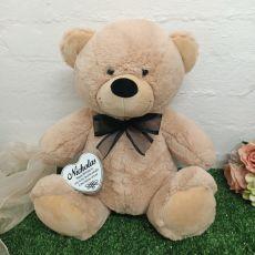 Birthday Keepsake Bear with heart Cream / Black40cm