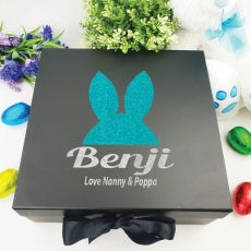 Personalised Black Easter Box - Bunny Ears